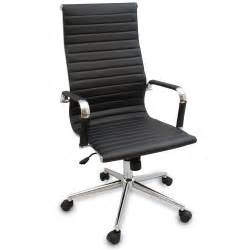 new black modern ergonomic ribbed high back executive
