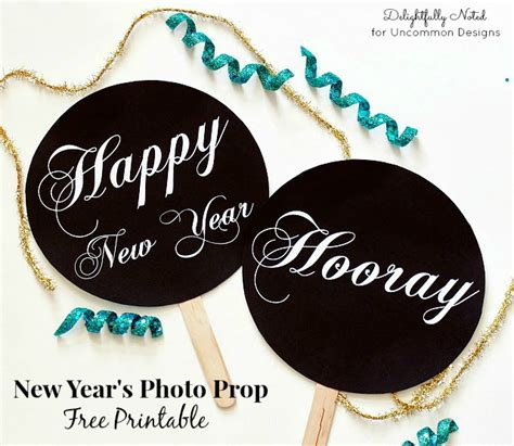 printable photo booth props nye diy new year s photo prop free printables a great party