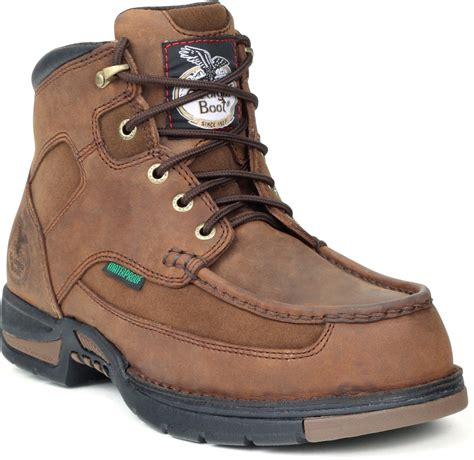 athens mens brown leather waterproof suede work