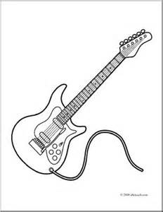 electric guitar coloring page clip electric guitar coloring page abcteach