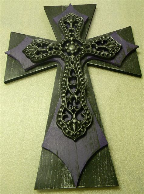 wooden decorative finished cross painted home decor wall