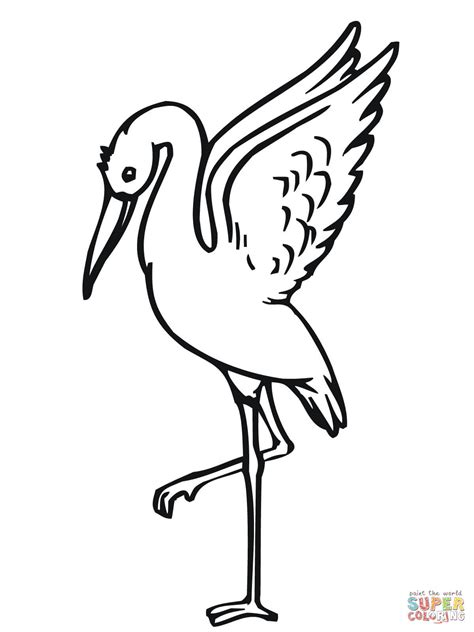 stork taking off coloring page free printable coloring pages
