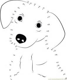 Dog Dot To Coloring Pages For Kids Picture sketch template