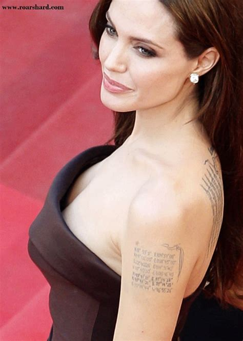 celebrity angelina jolie tattoos designs
