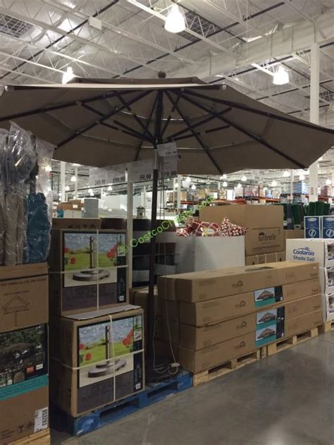patio umbrellas costco proshade 9 market umbrella with auto tilt costcochaser