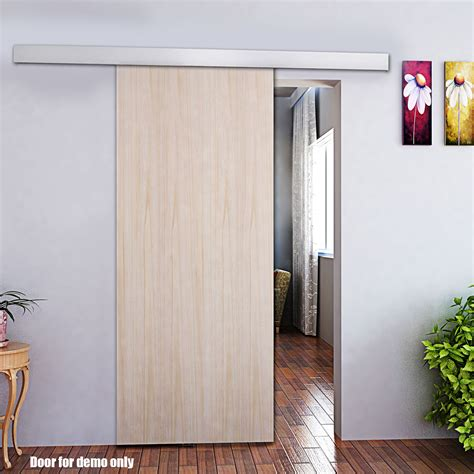 Interior Doors Sliding On Tracks 2m Modern Aluminum Alloy Sliding Barn Door Hardware Track Set Interior Closet Ebay