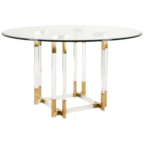 clear acrylic dining table koryn acrylic glass top gold dining table