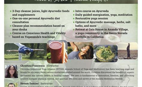 Detox Diet Retreats Usa by A 3 Day Juice Ayurvedic Cleanse Retreat Event