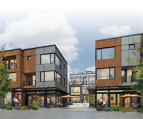Town House Plans by Rally Urban Live Work Live In West Seattle