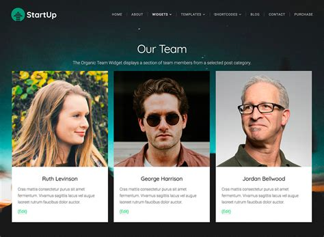 Tutorials Beautiful Responsive Wordpress Themes Organic Themes Our Team Website Template