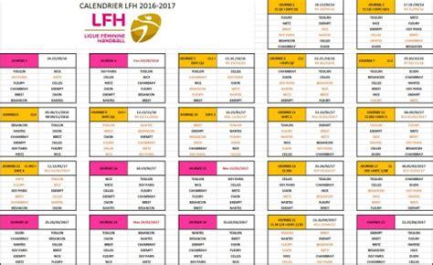 Calendrier Arena Brest Le Calendrier Des Matchs De La Lfh Est En Ligne Autres