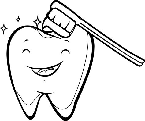 dental coloring pages happy tooth brush dental coloring page wecoloringpage