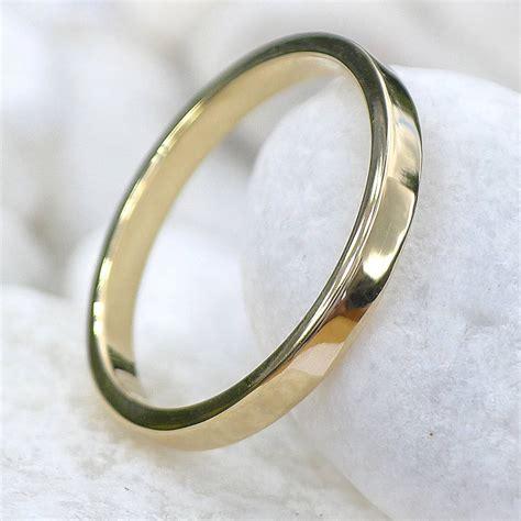 eco friendly 18ct gold wedding ring by lilia nash