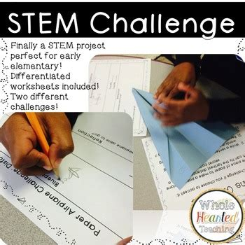 stem paper airplane challenge   hearted teaching tpt
