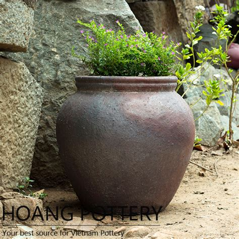 Planters Net by Black Clay Pot Outdoor Decor Hphp053 Hoang Pottery Your Best Source For