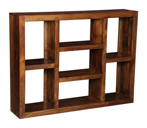 Handmade Wooden Shelves - large wooden shelves handmade with indian mango wood