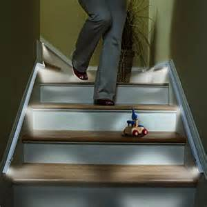 Motion Activated Stair Lighting by Sylvania 72452 Led Motion Activated Guideway Lighting Kit