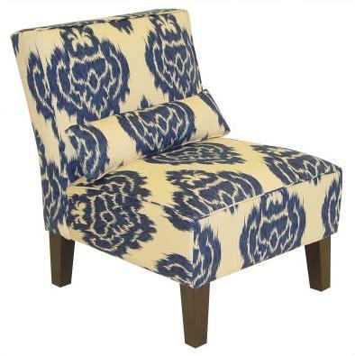 ikat slipper chair outfitters indigo ikat slipper chair copycatchic
