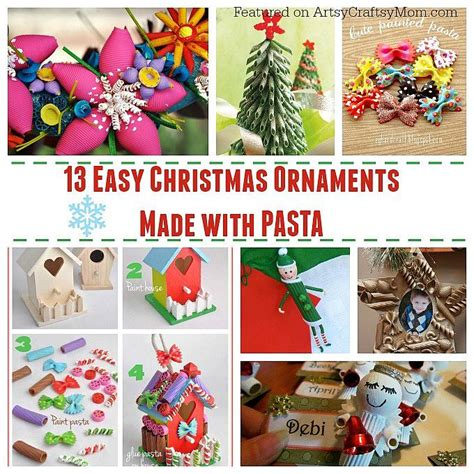 ornaments to make 13 easy ornaments for to make with pasta