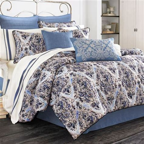 indigo comforter set santorini indigo medallion comforter bedding by piper wright