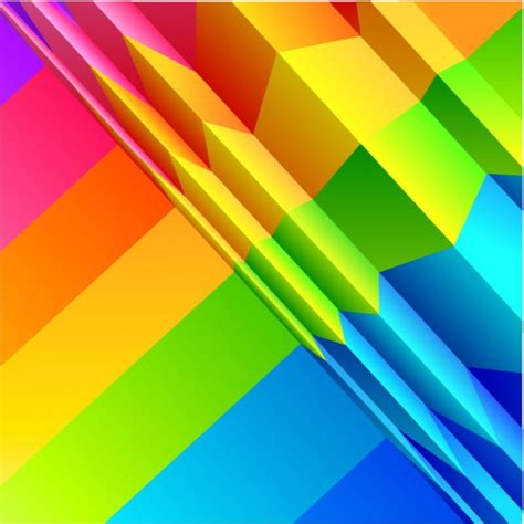 Origami Color - arc en ciel de couleur origami mat 233 riel vecteur de fond