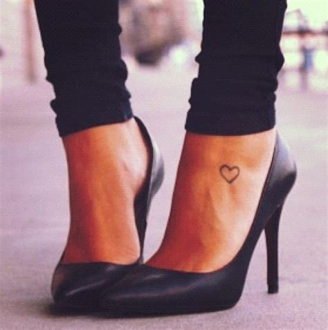 heartbeat tattoo ankle awesome outline heart ankle tattoo for girls