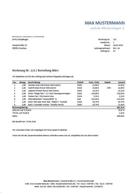 Kleinunternehmer Rechnung Garantie Excel Vorlage Automatisierte Angebots Und Rechnungserstellung Inkl Produkt Und