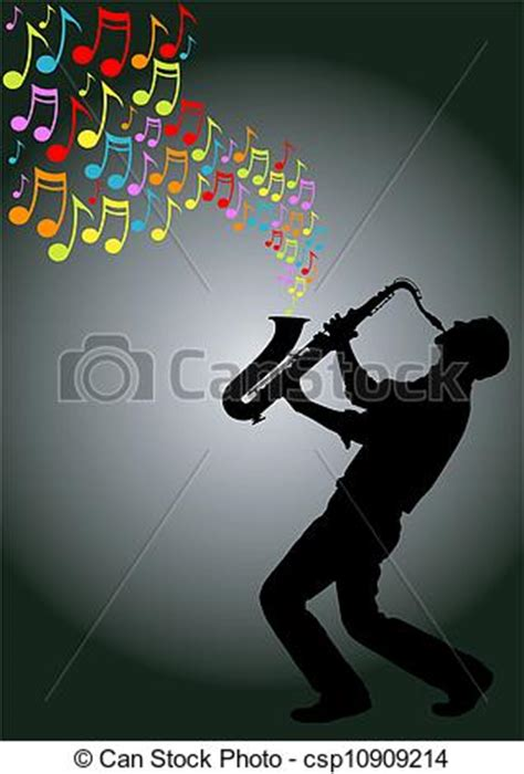 can stock photo clipart vector clip of saxophone player silhouette of