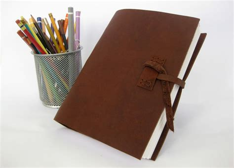 How To Make Paper Thicker - leather sketchbook thick journal with acid free drawing paper