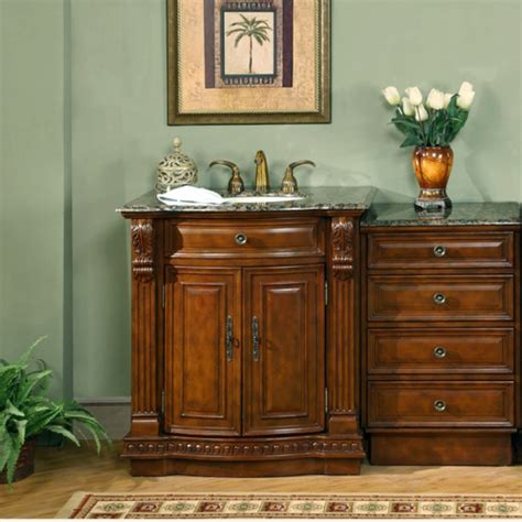 53 inch single sink bathroom vanity with storage and