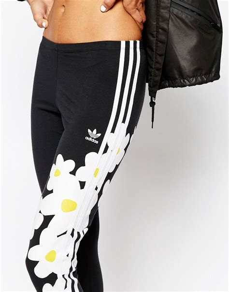 Adidas Flower Fastival Suitshirt Hoodie And Legging Print Compression adidas originals originals pharrell williams 3 stripe