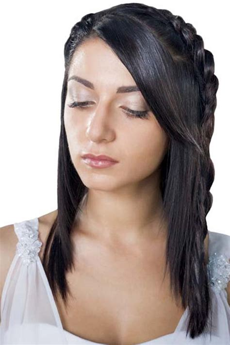 half up half braided hairstyle hairstyles