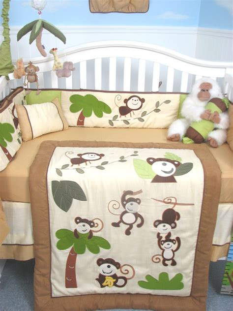 Soho Designs Curious Monkey Baby Crib Nursery Bedding Set Monkey Baby Crib Bedding