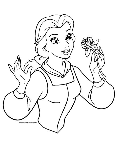 belle rose coloring page beauty and the beast coloring pages 2 disney coloring book