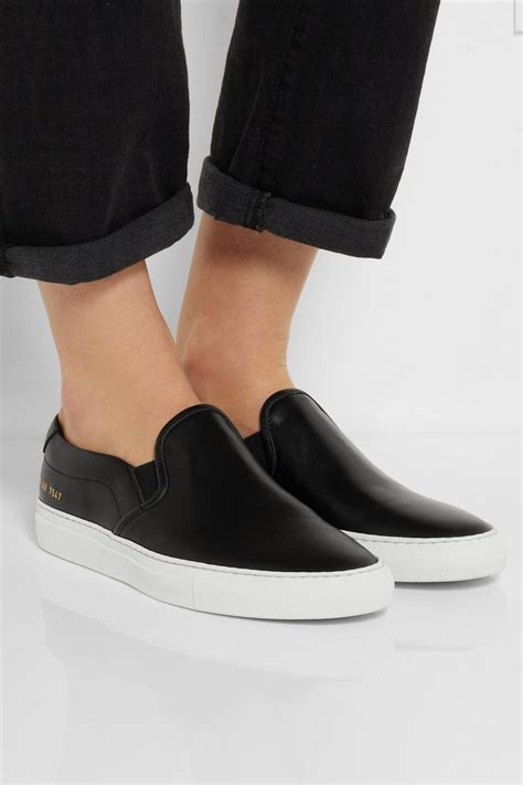 Slip This On by Lyst Common Projects Leather Slip On Sneakers In Black
