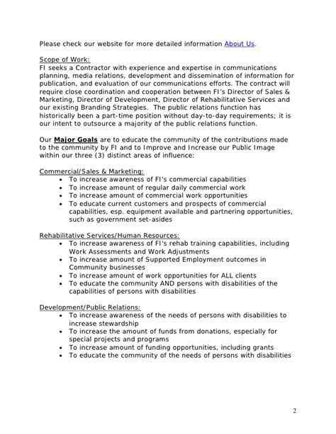 Relations Agreement Template template relations rfp