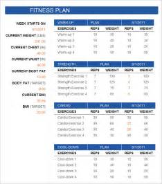 Exercise Contract Template by Fitness Schedule Templates 7 Free Excel Pdf Documents