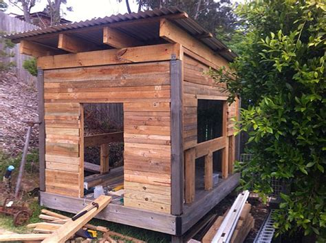 Timber Cubby House Plans Pallet Cubby House Made From Salvaged Timber If You Want To See It Finished You Can Stay In The