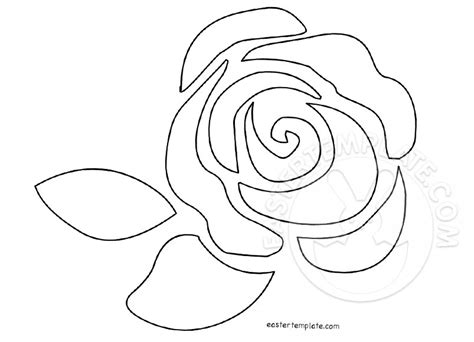 Single Rose Flower Pattern   Easter Template