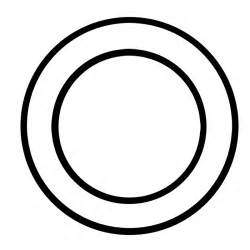 Circle Black Outline by White Circle Inner