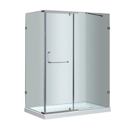 Stainless Steel Shower Stall by Aston Sen975 60 In X 35 In X 77 1 2 In Semi Frameless Shower Enclosure In Stainless Steel