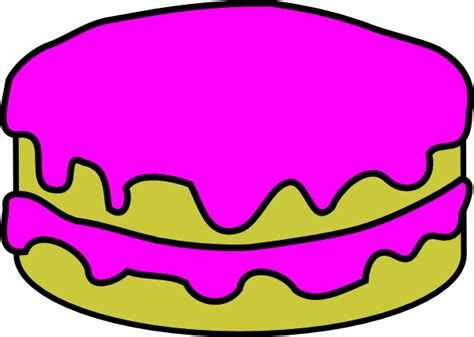 Cake Clipart Without Candles pink cake no candles clip at clker vector clip