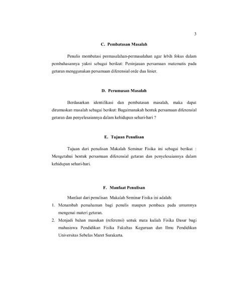 Persamaan Diferensial Biasa persamaan diferensial getaran