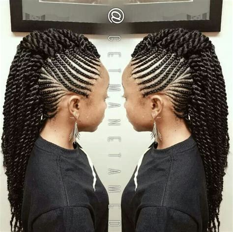embrace braids mohok crochet mohawk hair and other pinterest mohawks