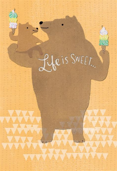 Big and Little Bear Father's Day Card for Great Grandpa