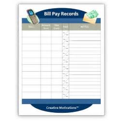 search results for free printable monthly bill payment