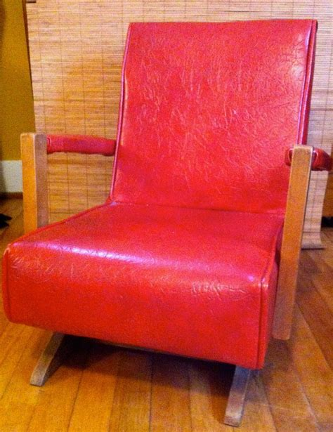 childrens upholstered rocking chair reserved for bonnie mid century rocker vinyl