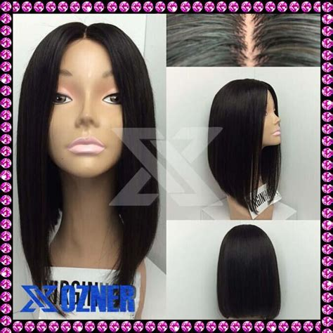 Middle Part Bob Wig | natural middle part cut bob full lace wigs with baby hair