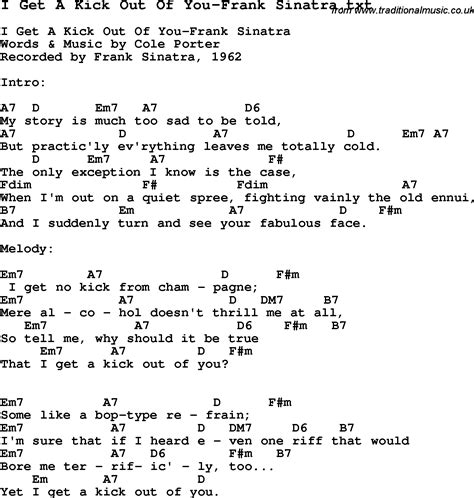 lyrics frank sinatra jazz song i get a kick out of you frank sinatra with