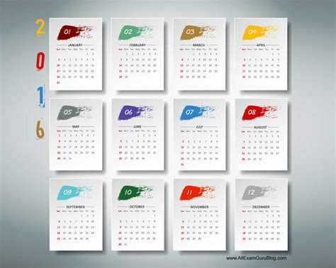Calendar For Desktop 2016 Year Calendar Wallpaper Free 2016 Calendar